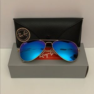 Ray-Ban Polarized Sunglasses RB3025 AVIATOR MIRROR
